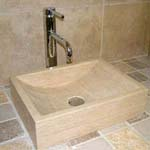 Travertine Square shaped Sink
